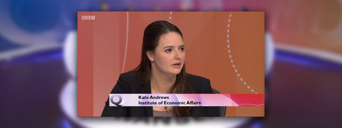 Kate Andrews appears on Question Time